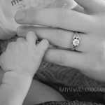 Holding mommy's hand